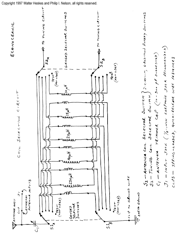 crystal shortwave building instructions coil selector circuit